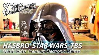 Review HASBRO Star Wars TBS - Darth Vader Premium Electronic Helmet Black Series - deutsch