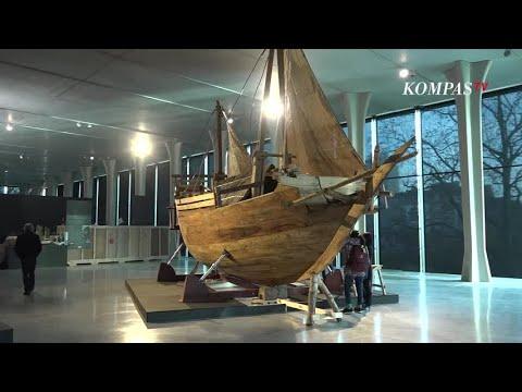 Perahu Legendaris Padewakang Dipamerkan di Ajang Europalia