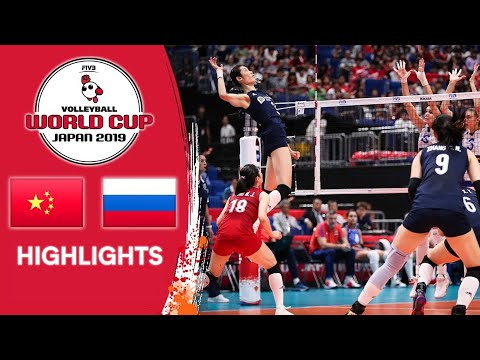 CHINA vs. RUSSIA - Highlights | Women's Volleyball World Cup 2019