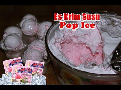 Video Cara Mudah Membuat Es Krim Susu Pop Ice Enak dan Lembut ala Zasanah