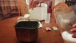 Brot backen, Weißbrot mit Brotbackautomat