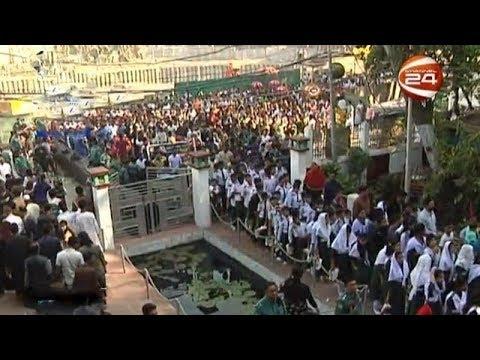 চট্টগ্রাম কেন্দ্রীয় শহীদ মিনারে সর্বস্তরের মানুষের ঢল