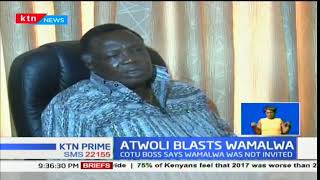 COTU Sec Gen Francis Atwoli lashes out at Water and Irrigation Eugene Wamalwa