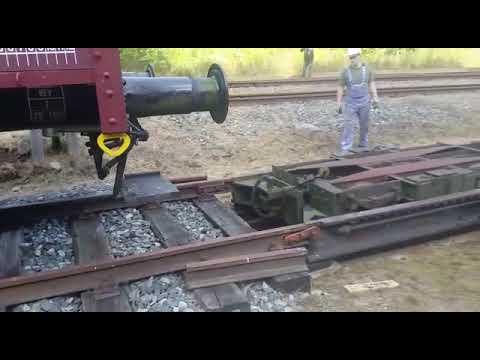 Bahnhofsfest Schönheide Süd - Rollwagen Beladung