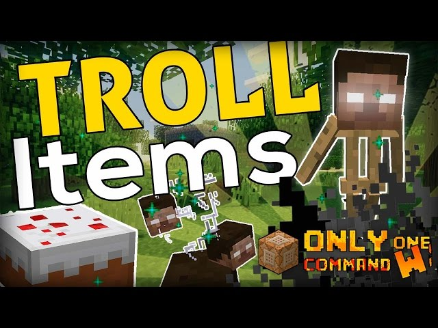 Troll Items in Minecraft Command - Cimap