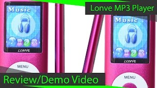 Lonve Pink 16GB MP3 Player Review