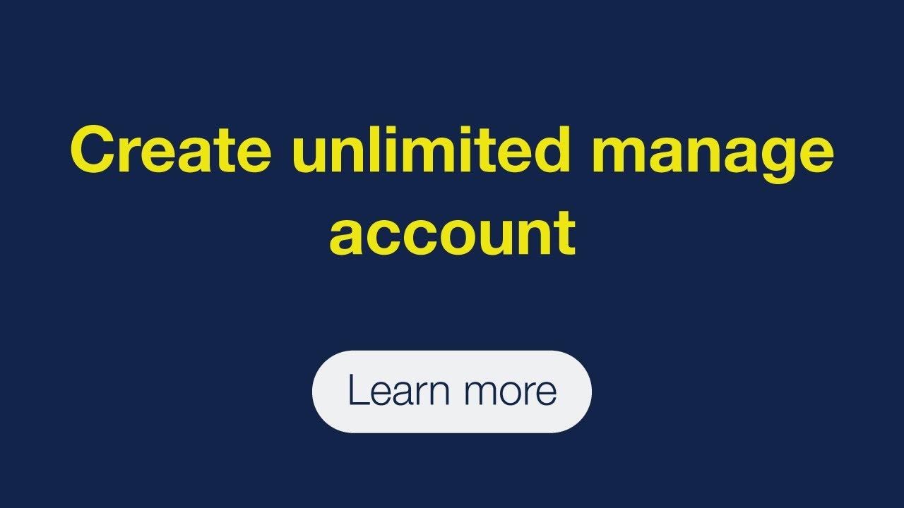 Create unlimited manager account