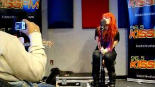 "Allison Iraheta KISS Cleveland ""Friday I'll Be Over U"" / ""Just Like You"""