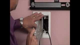 Flat Panel TV Cable Organizer Kit With Power Solution - How To Hide Wires In Wall