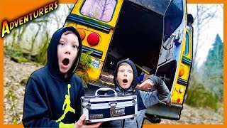 BROKE INTO ABANDONED SCHOOL BUS AND FOUND THIS SAFE!
