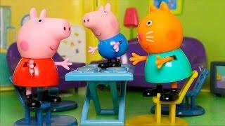 Видео про игрушки свинка Пеппа - Одни дома!
