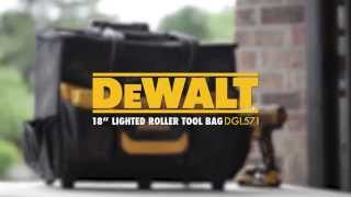 DEWALT BY CLC 18″ Lighted Roller Tool Bag