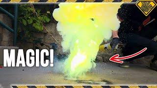 Experimental GREEN Flash Powder