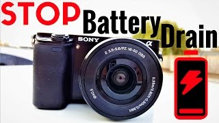 Sony A6000 BATTERY DRAIN | Alpha A6000 Guide | Best 2 Fixes + Stop Overnight Power Loss