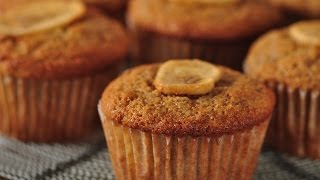 Whole Wheat Banana Muffins Recipe Demonstration - Joyofbaking.com