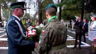 preview picture of video 'Uroczystość na Cmentarzu Wojennym 1939 Tomaszów Lubelski 2014'