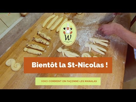 Préparation des manalas pour la St-Nicolas avec la Boulangerie Walter.