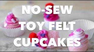 No-Sew Toy Felt Cupcakes