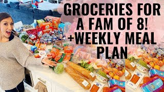 Groceries + meal plan for family of 8! +TONS of affordable grocery tips!