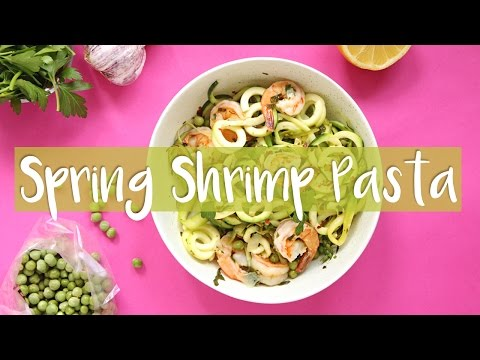 Video QUICK & HEALTHY SPRING RECIPES | Shrimp Veggie Pasta Recipe