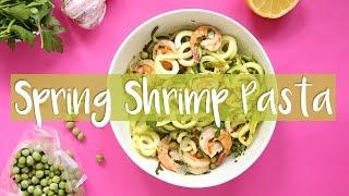 <span class='sharedVideoEp'>009</span> 無澱粉蝦仁蔬菜義大利櫛瓜麵食譜解密 Shrimp Veggie Pasta Recipe