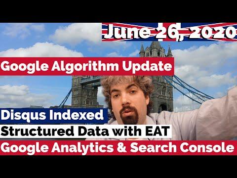 Atualização não confirmada do Google, Disqus indexados, dados estruturados, EAT e Google Analytics com o Search Console 1