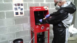 S50M Solvent Spray Gun Cleaner – Operation
