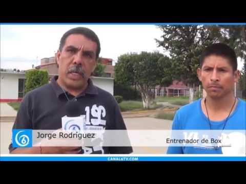 Jóvenes y niños pugilistas reciben apoyo del municipio para seguir entrenando en el deportivo Los Encinos
