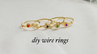 Diy Rings/how To Make Simple And Easy Wire Wrapped Rings/Simple Wire Rings To Make And Sell