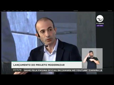 """TV Câmara – Palestra com Yuval Harari, autor de """"Sapiens"""" e """"Homo Deus"""" (acompanhe com libras)"""
