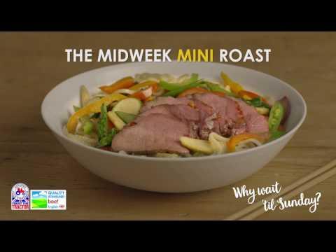 Mini Roast Beef with Teriyaki recipe