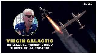 Virgin Galactic realiza el primer vuelo turístico al espacio #Branson #espacio #Bezos #Musk #Turismo