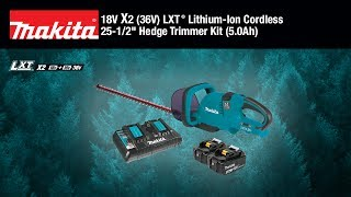 "MAKITA 18V X2 (36V) LXT® 25-1/2"" Hedge Trimmer Kit - Thumbnail"