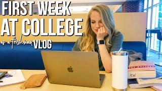 First Week Of College Vlog! I FAILED MY FIRST COLLEGE TEST:))))) | college week in my life