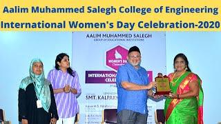 Aalim Muhammed Salegh College of Engineering International Women's Day-2020