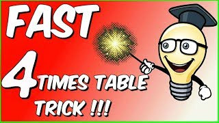 Fast 4 Times Table trick - The Brick Method