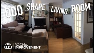 Oddly Shaped Living ROOM FOR IMPROVEMENT | Design Time