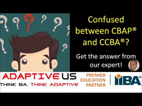 Should I take CBAP or CCBA certification? - YouTube