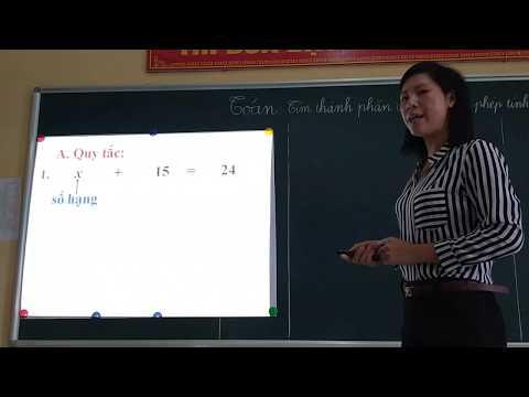 Ôn tập toán 3: Tìm thành phần chưa biết của phép tính (Tìm x)