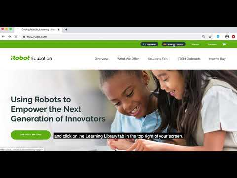 iRobot Education Learning Library: How to Access and Navigate the Library