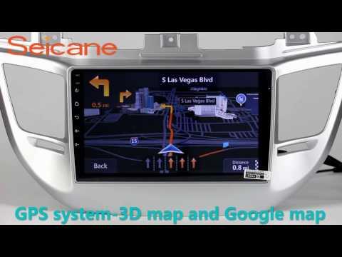 10.2 inch 2015 2016 Hyundai IX35 Tucson gps navigation in dash radio dvd player with Bluetooth