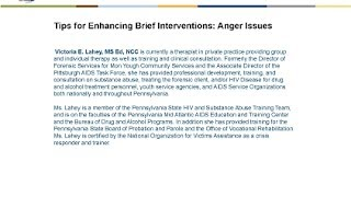 Tips for Enhancing Brief Interventions - Anger Issues