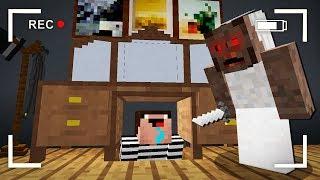 Преступник Спрятался от Бабушки Гренни в Майнкрафт! Троллинг Преступника в Minecraft Мультик Granny