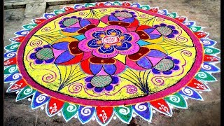 Top 10 Rangoli Designs With Colours 2018 | Best Rangoli Designs For Competition | Key For Girls