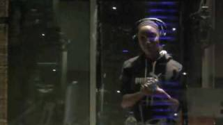"@Dondria in the studio Recording the Song ""Believer"""