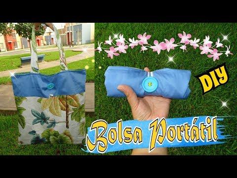 Bolsa de compras Portatil en Tela muy fácil - Tote Bag DIY Tutorial
