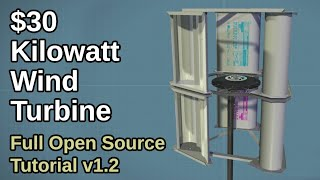 $30 DIY Kilowatt Wind Turbine - Build Tutorial v1.2 - OpenSourceLowTech.org