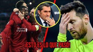 Las Razones Por Las Que Messi DESAPARECIÓ Contra El Liverpool Y Al Barcelona Lo Remontaron