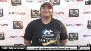 2021 Arianna Jaimes First Base Softball Skills Video - Lady Wolfpack