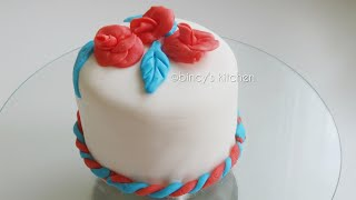ഫോണ്ടന്റ് കേക്ക്  | Fondant Cake Decoration For Beginners | Fondant Birthday Cakes Ep :102